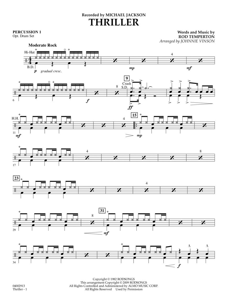 Thriller - Percussion 1