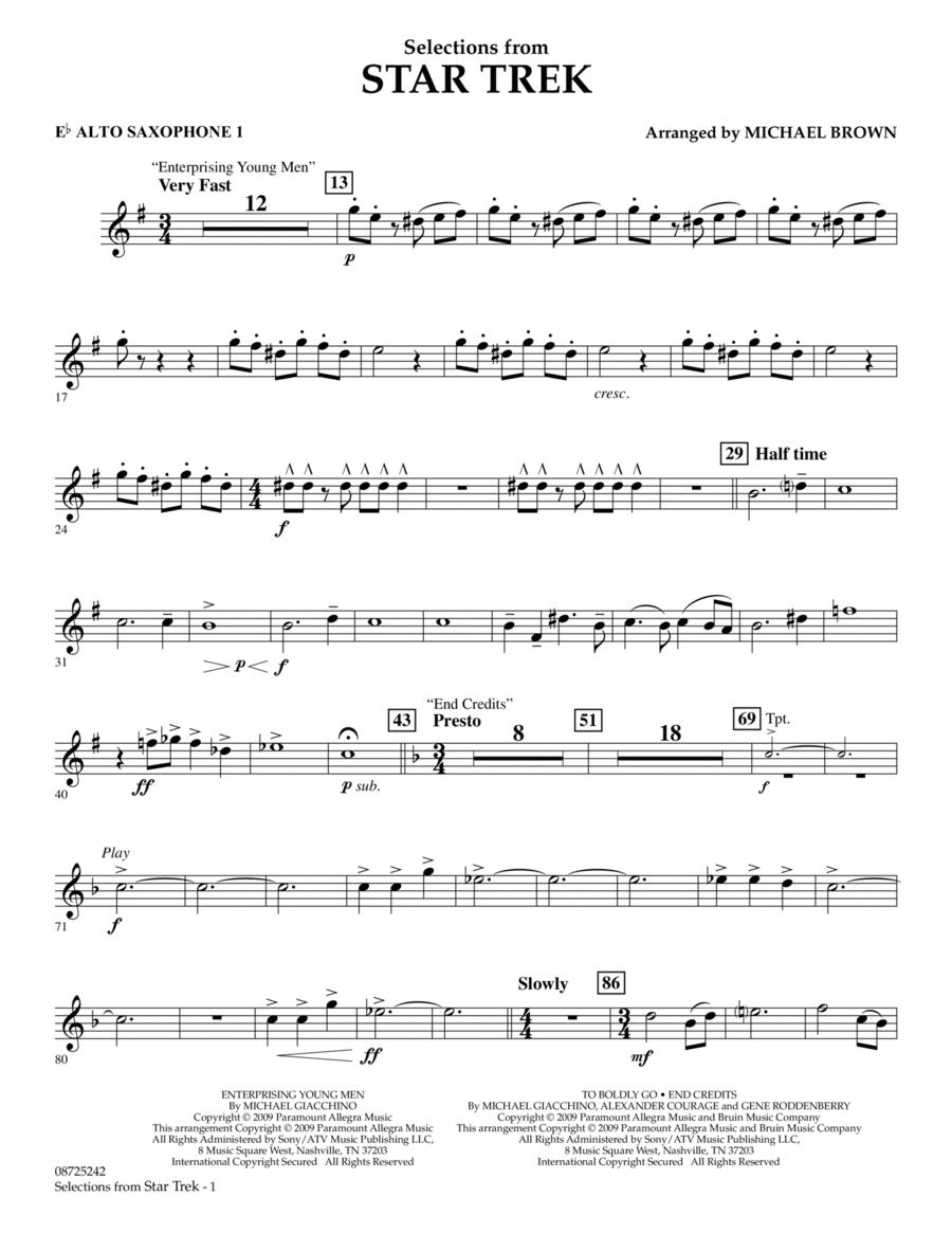 Selections from Star Trek - Eb Alto Saxophone 1