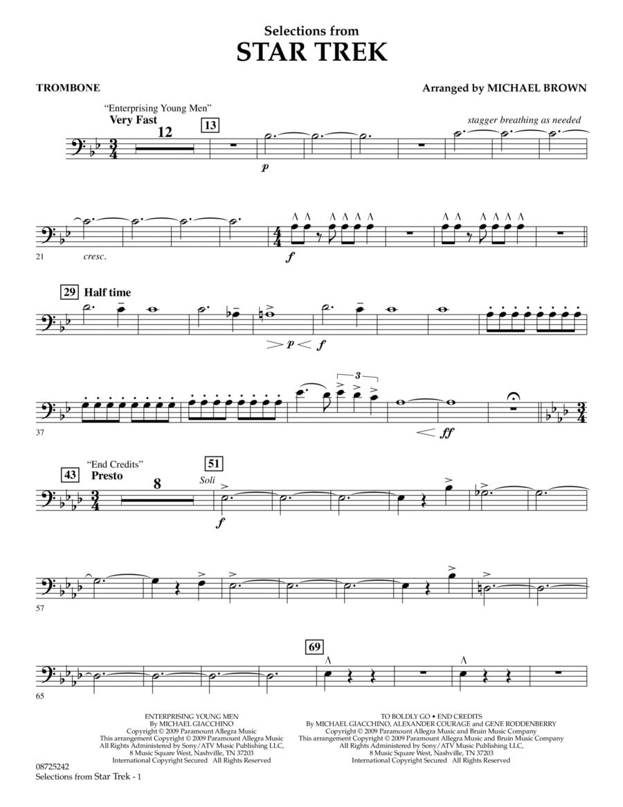 Selections from Star Trek - Trombone
