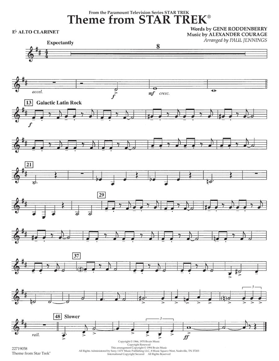 Theme from Star Trek (TV Series) - Eb Alto Clarinet