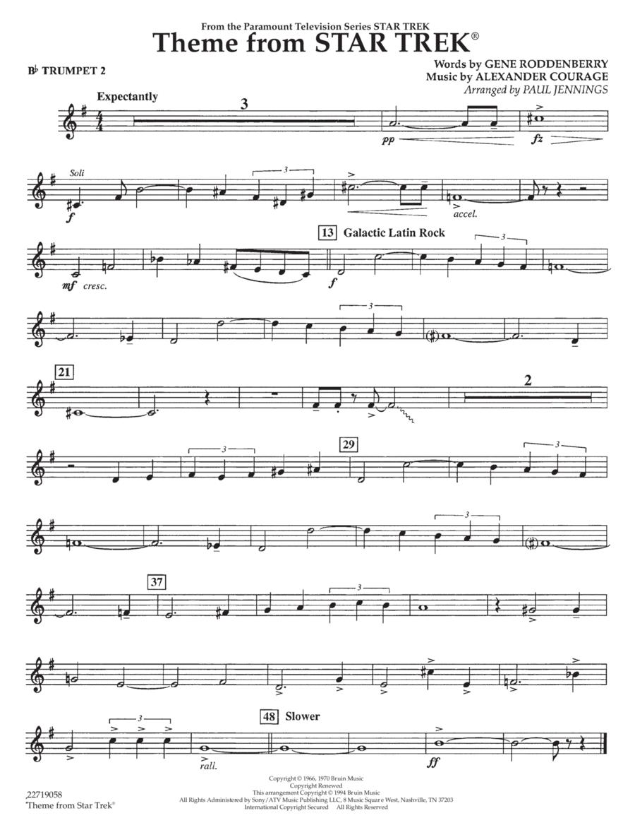 Theme from Star Trek (TV Series) - Bb Trumpet 2