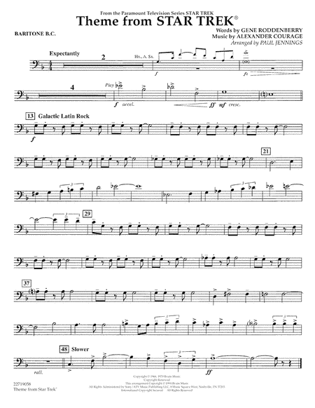 Theme from Star Trek (TV Series) - Baritone B.C.