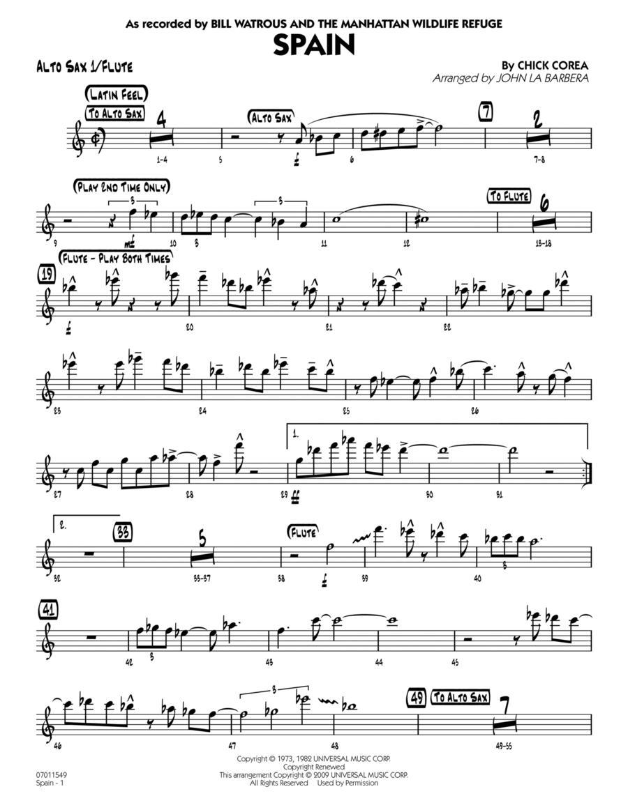 Spain - Alto Sax 1/Flute