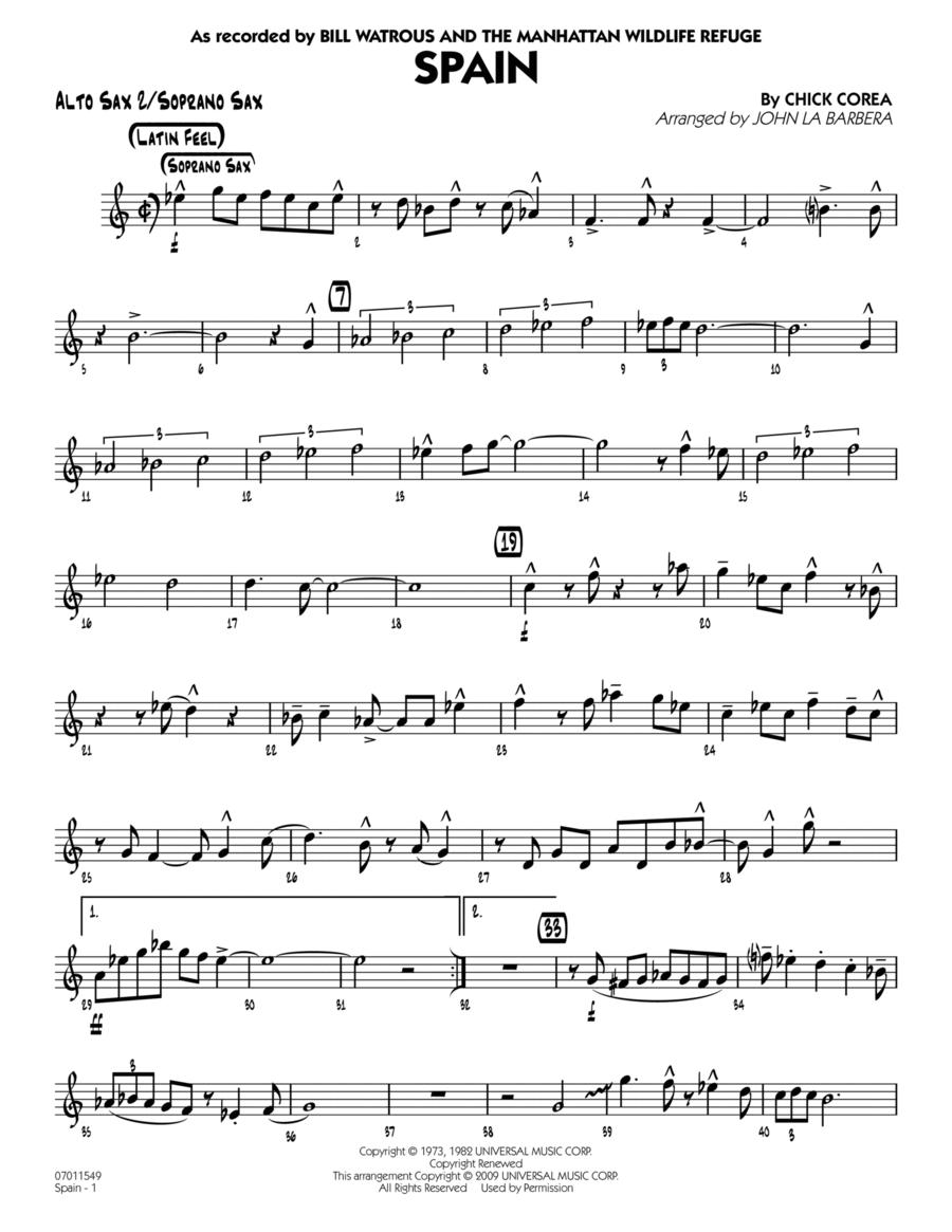 Spain - Alto Sax 2/Soprano Sax