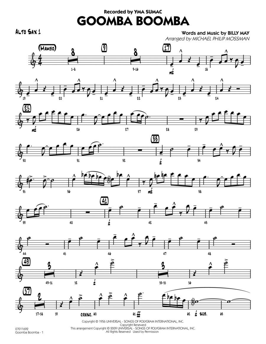 Goomba Boomba - Alto Sax 1