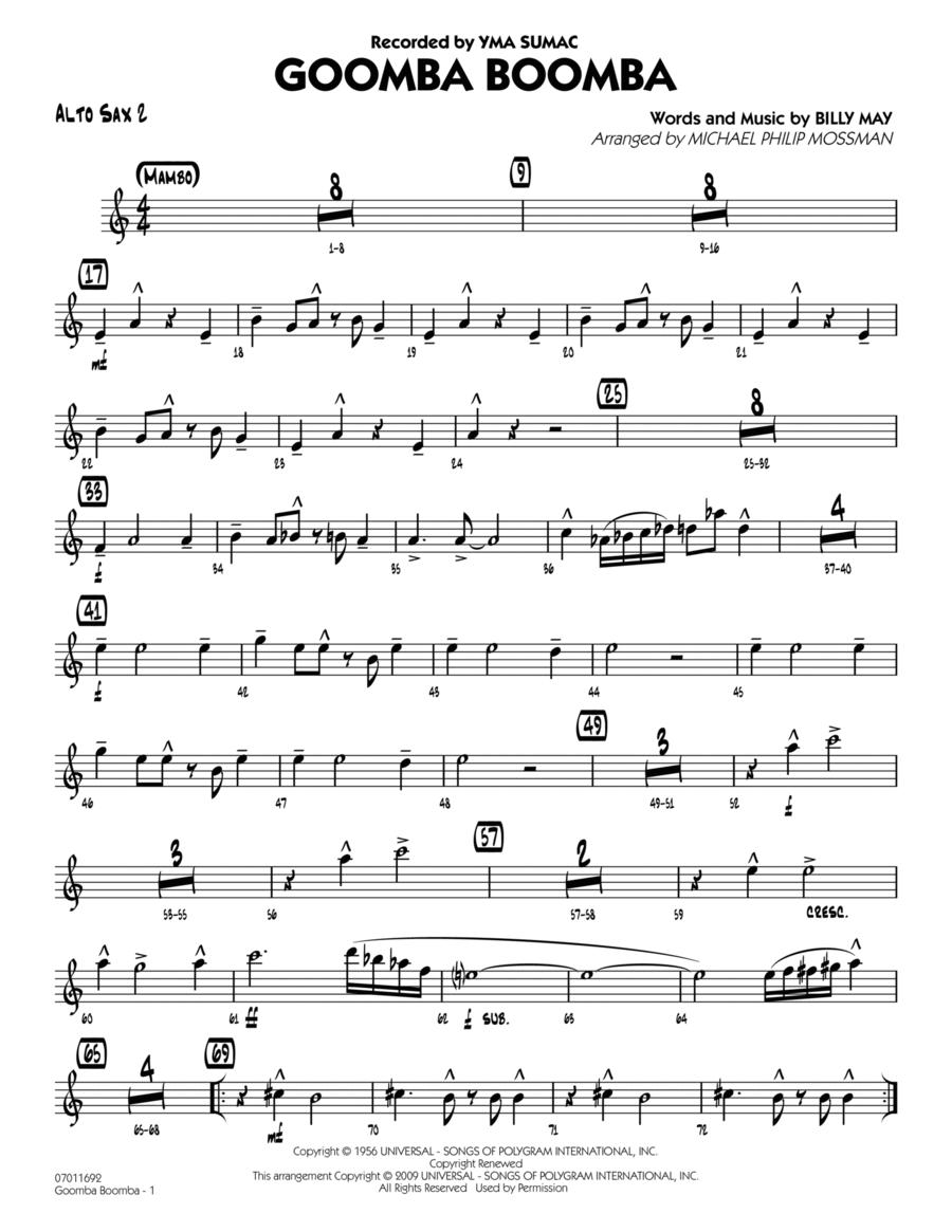 Goomba Boomba - Alto Sax 2