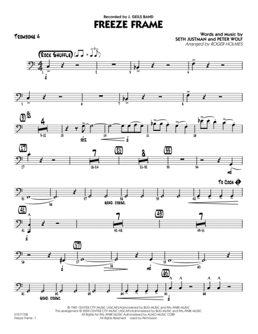 Freeze Frame - Trombone 4