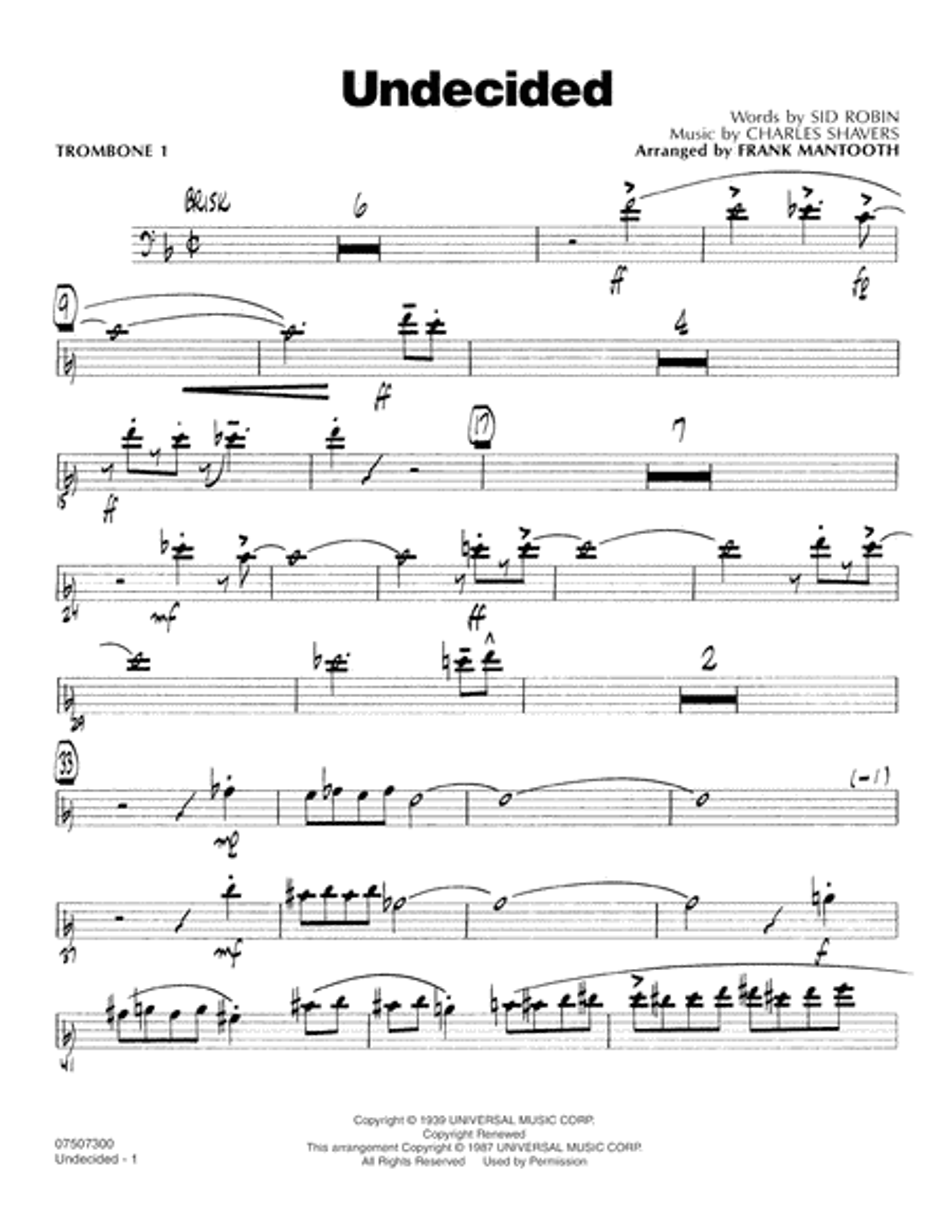 Undecided - Trombone 1