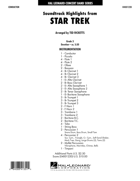 Star Trek - Soundtrack Highlights - Full Score