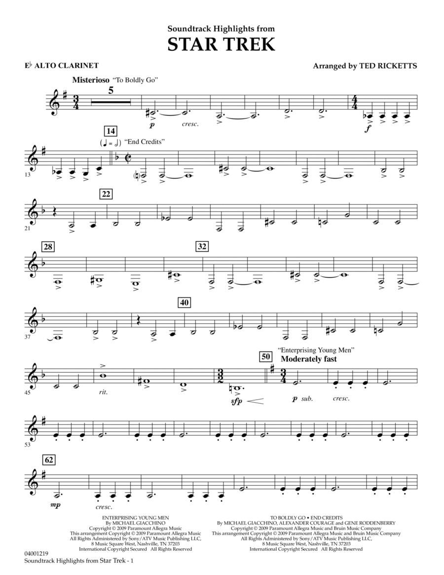 Star Trek - Soundtrack Highlights - Eb Alto Clarinet