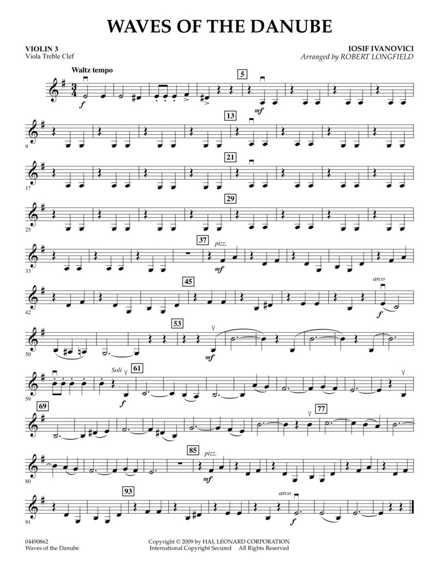 Waves of the Danube - Violin 3 (Viola Treble Clef)
