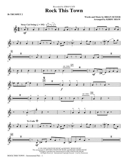 Rock This Town - Trumpet 2