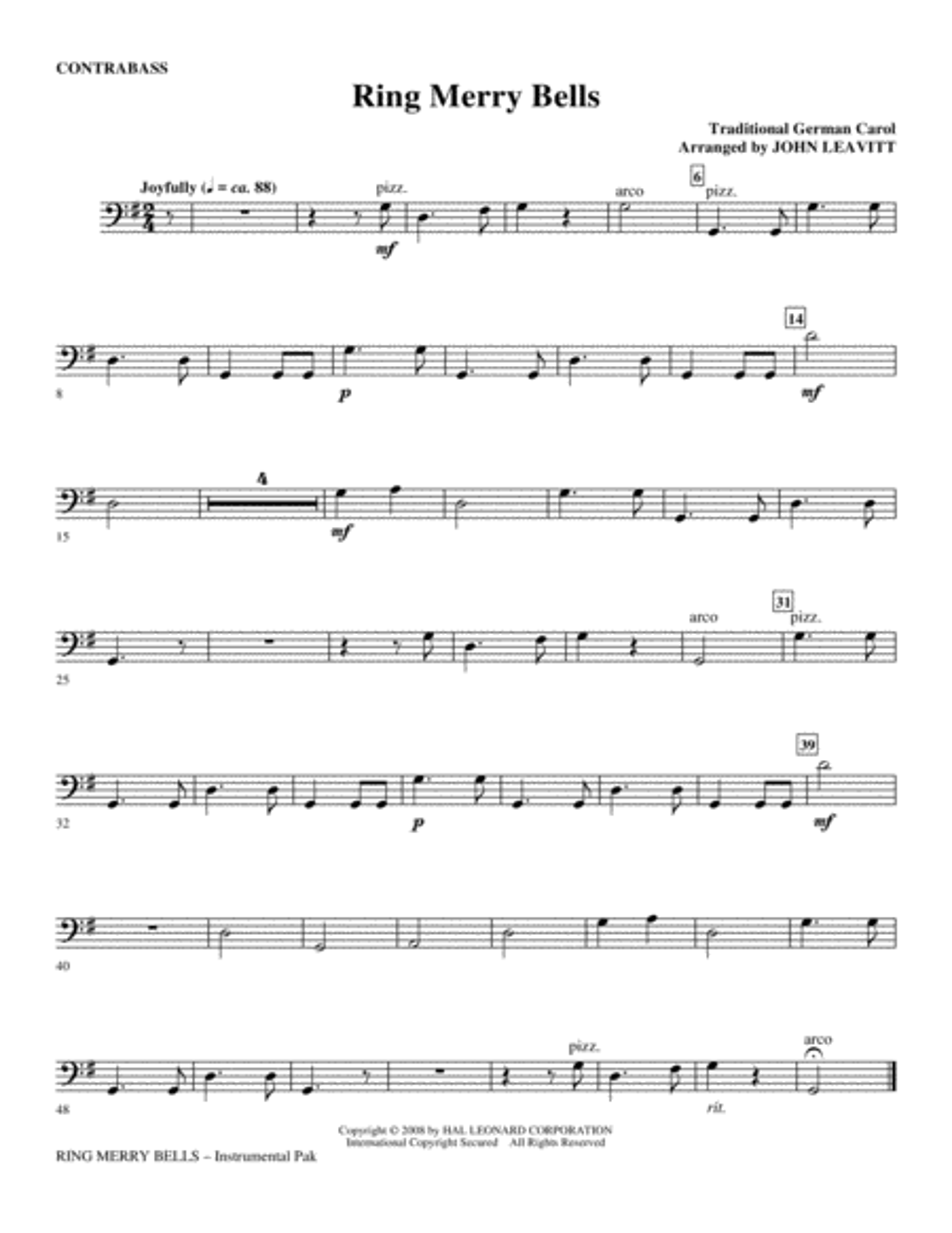 Ring Merry Bells - Double Bass
