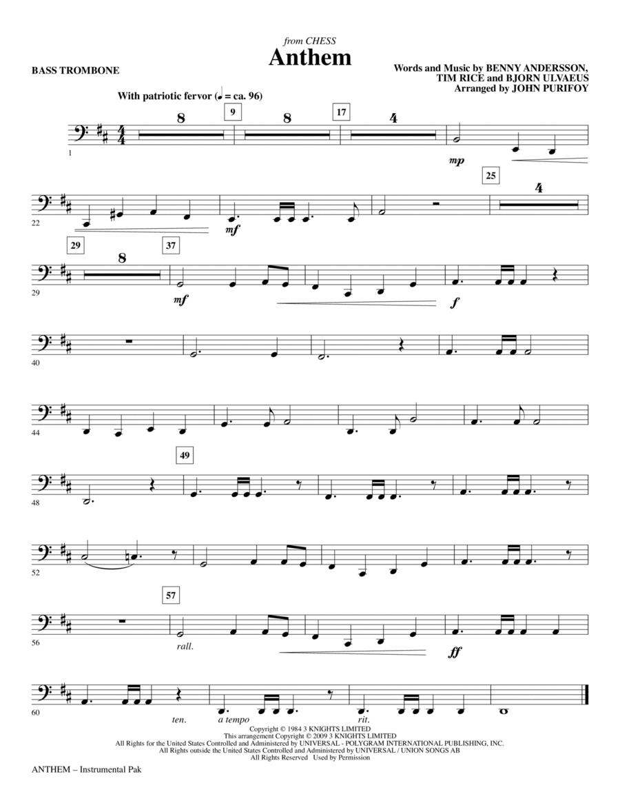 Anthem (from Chess) - Bass Trombone