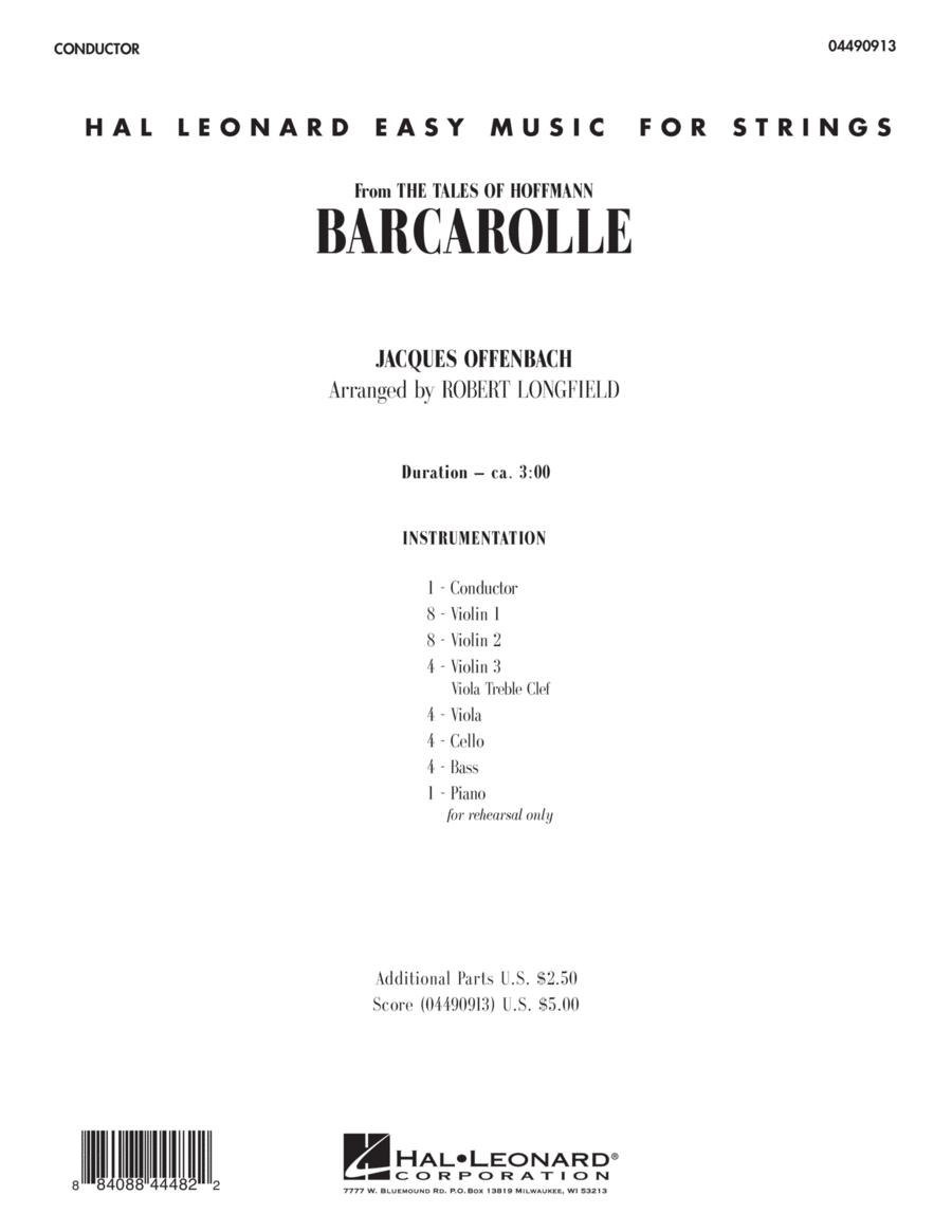 Barcarolle - Full Score