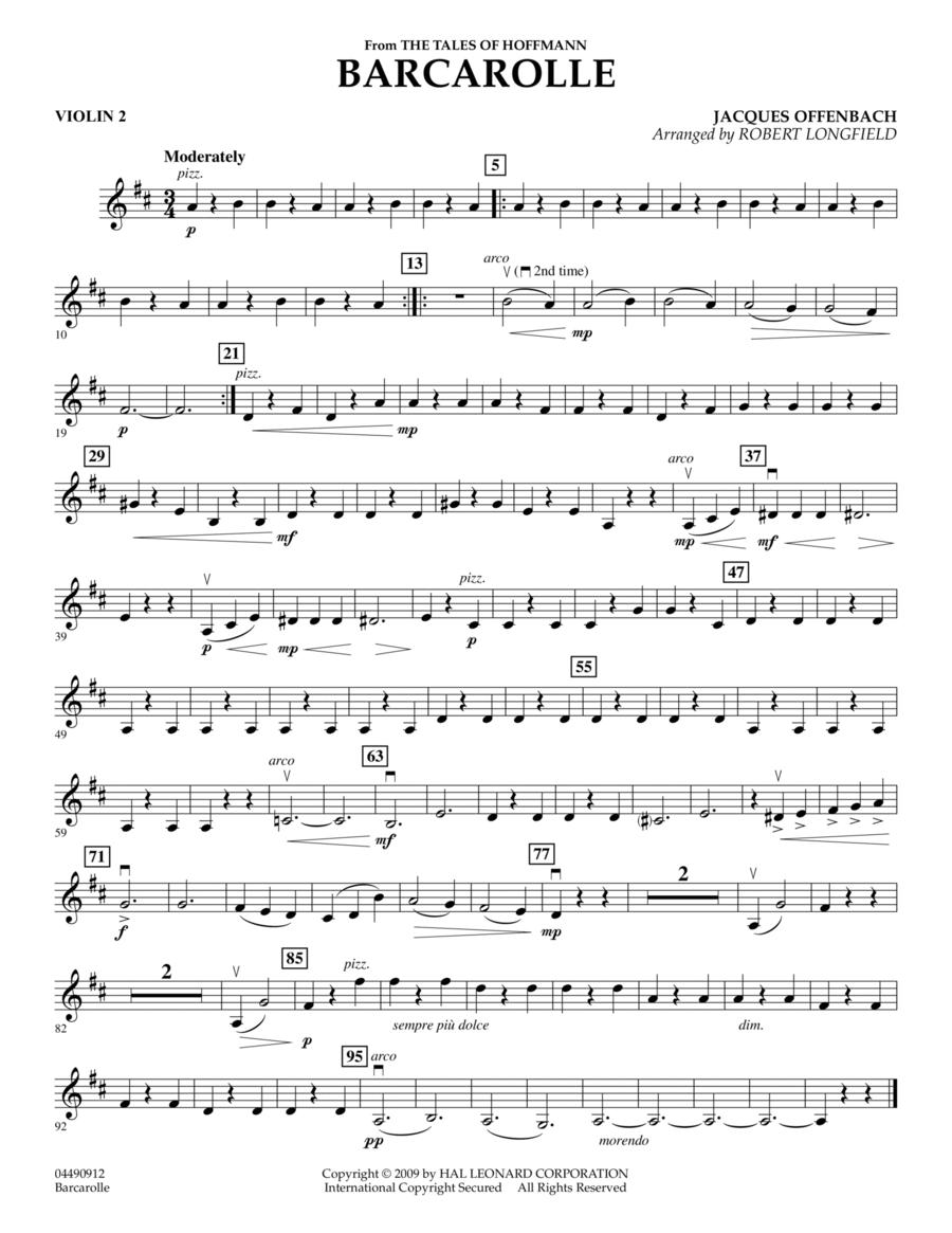 Barcarolle - Violin 2