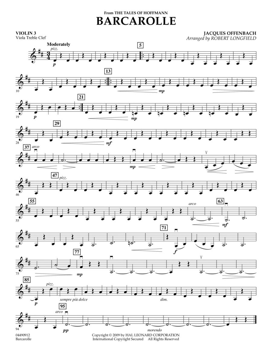 Barcarolle - Violin 3 (Viola Treble Clef)