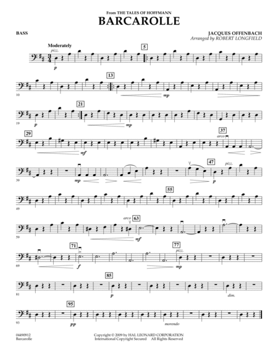 Barcarolle - Bass