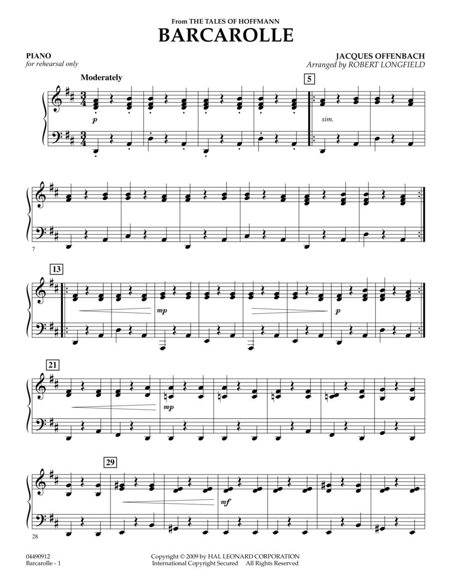 Barcarolle - Piano