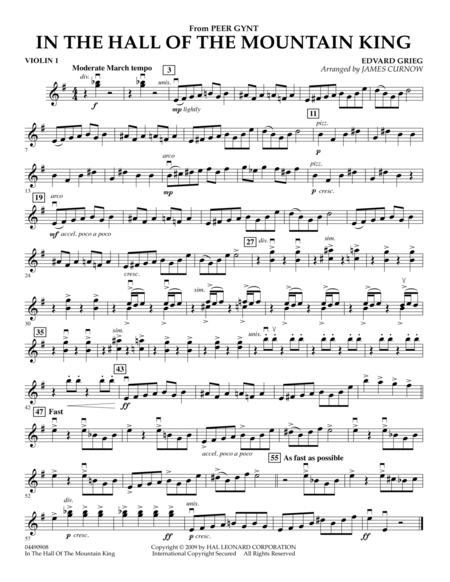 In the Hall of the Mountain King - Violin 1
