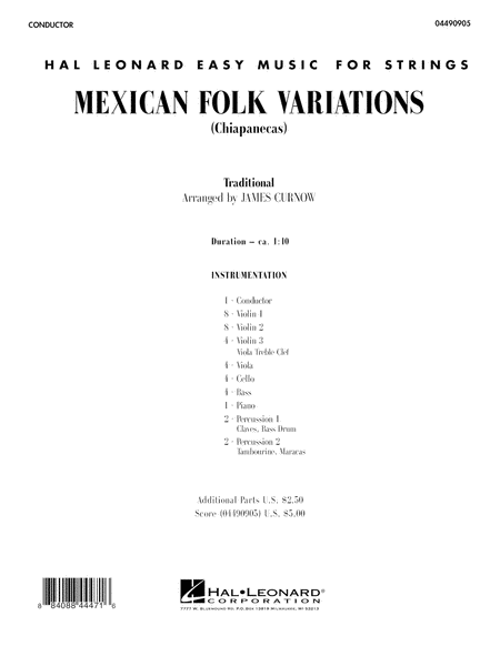 Mexican Folk Variations - Full Score