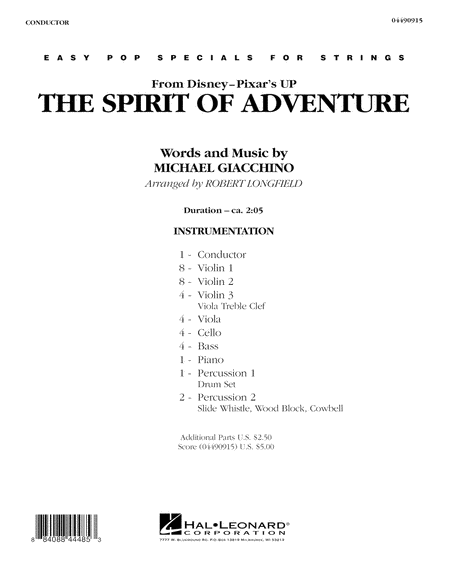 The Spirit Of Adventure (from Up) - Full Score
