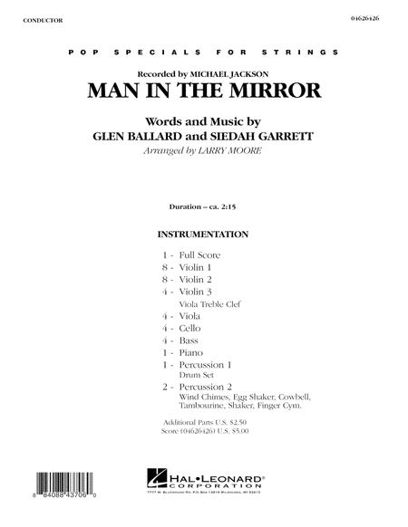 Man in the Mirror - Full Score