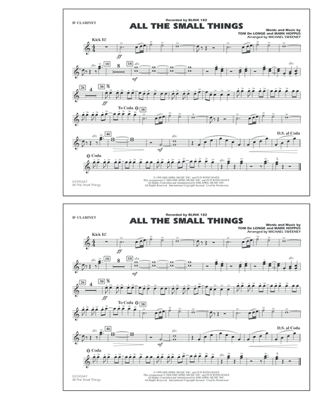 All The Small Things - Bb Clarinet