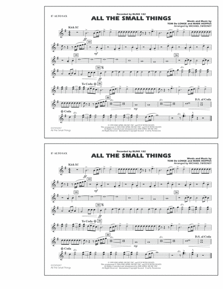 All The Small Things - Eb Alto Sax