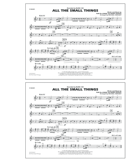 All The Small Things - F Horn
