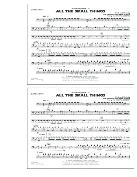 All The Small Things - 2nd Trombone
