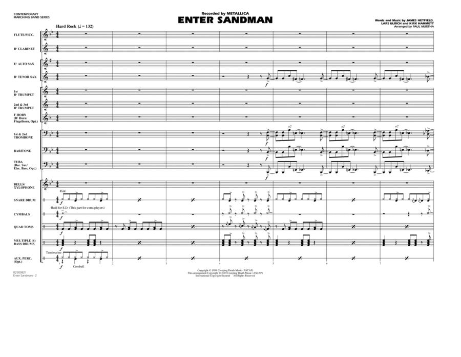 Enter Sandman - Full Score