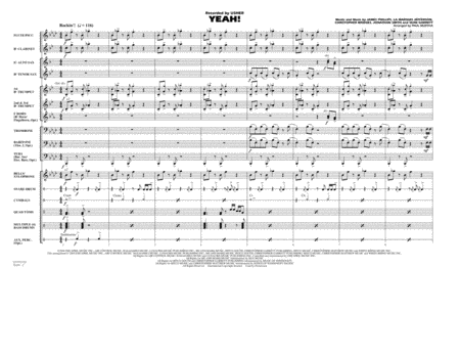 Yeah! - Full Score