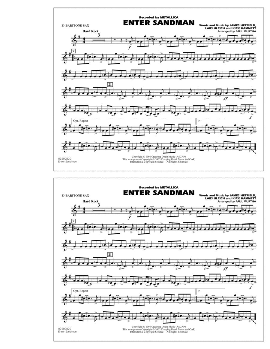 Enter Sandman - Eb Baritone Sax