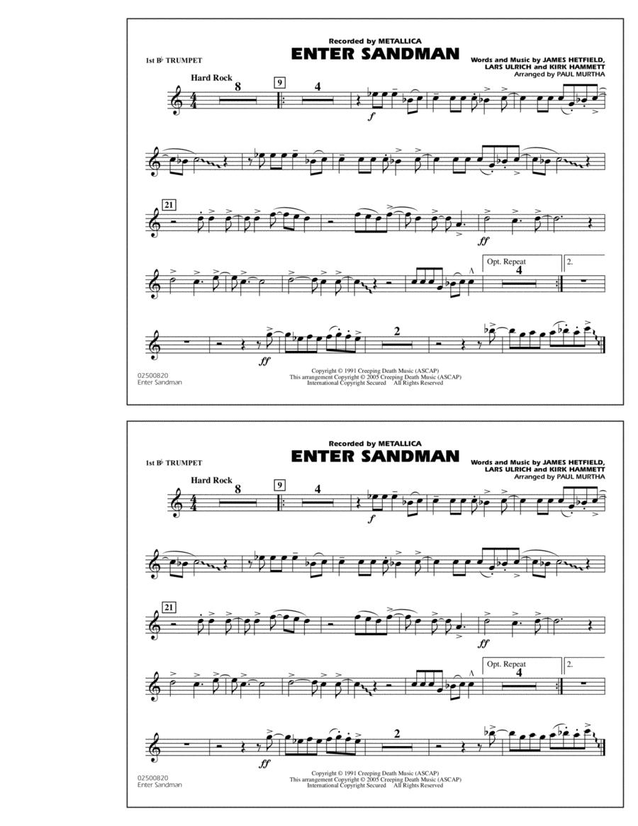 Enter Sandman - 1st Bb Trumpet