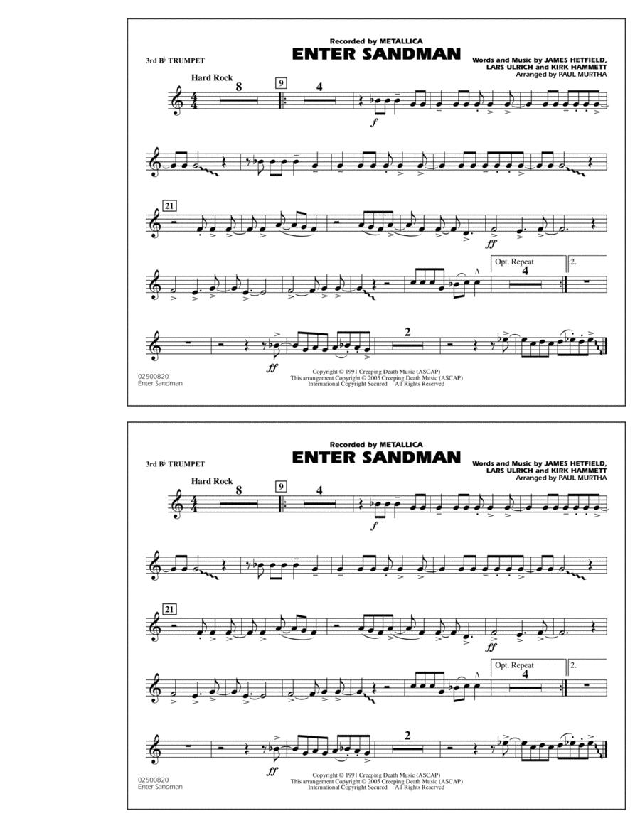 Enter Sandman - 3rd Bb Trumpet