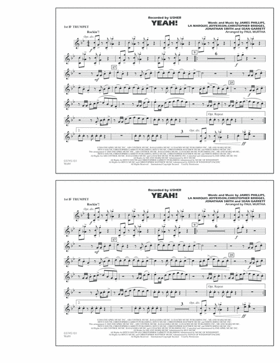 Yeah! - 1st Bb Trumpet