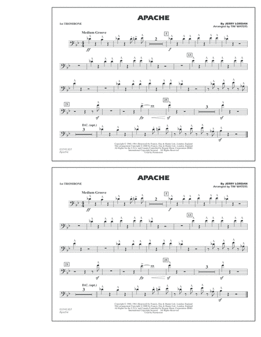 Apache - 1st Trombone