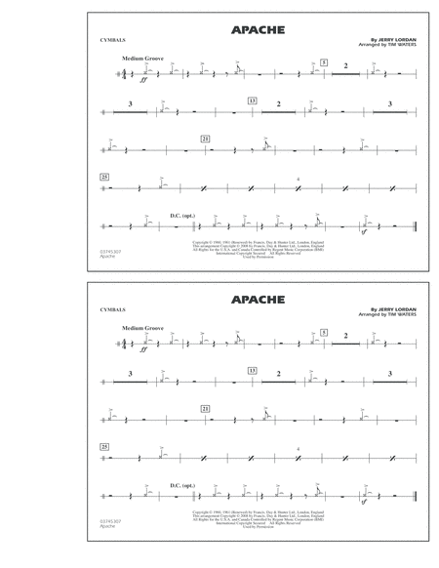 Apache - Cymbals