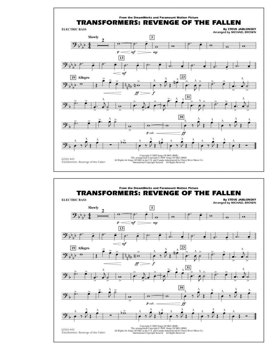 Transformers: Revenge Of The Fallen - Electric Bass