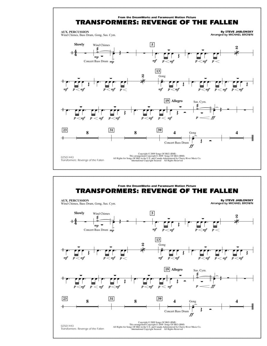Transformers: Revenge Of The Fallen - Aux Percussion
