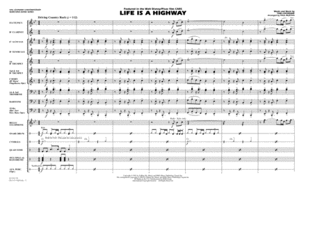 Life Is A Highway - Full Score