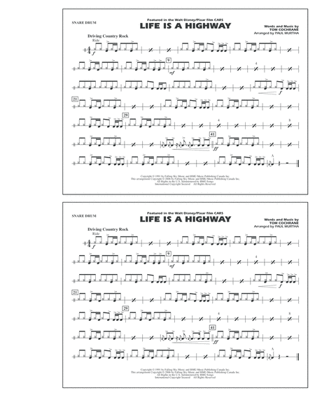 Life Is A Highway - Snare Drum