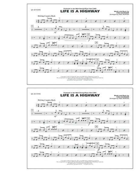 Life Is A Highway - Quad Toms