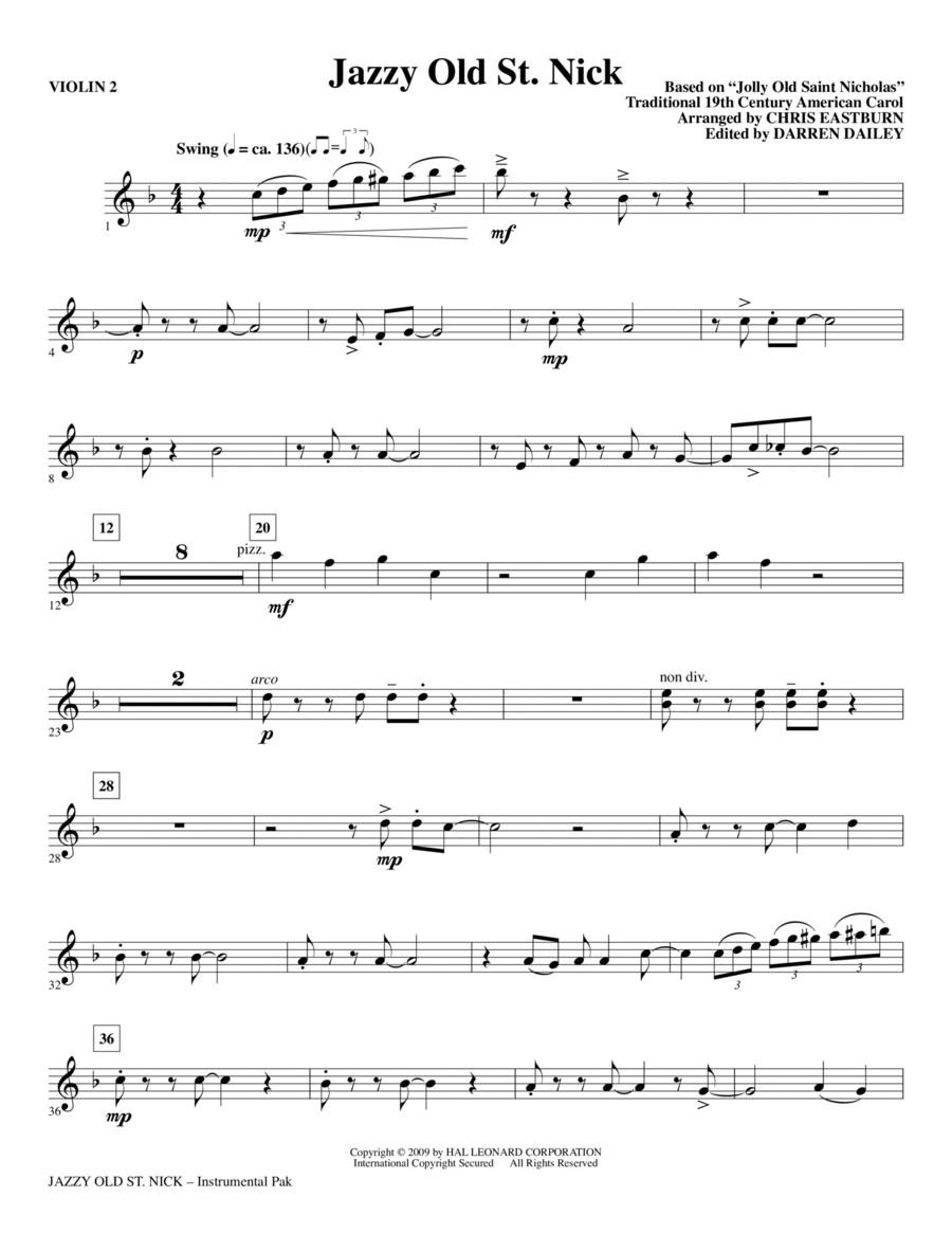 Jazzy Old St. Nick - Violin 2