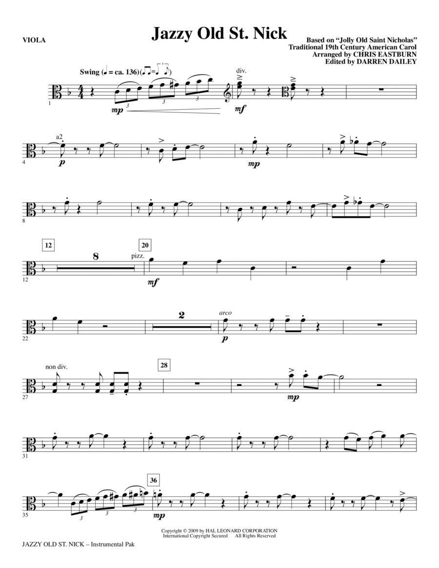 Jazzy Old St. Nick - Viola