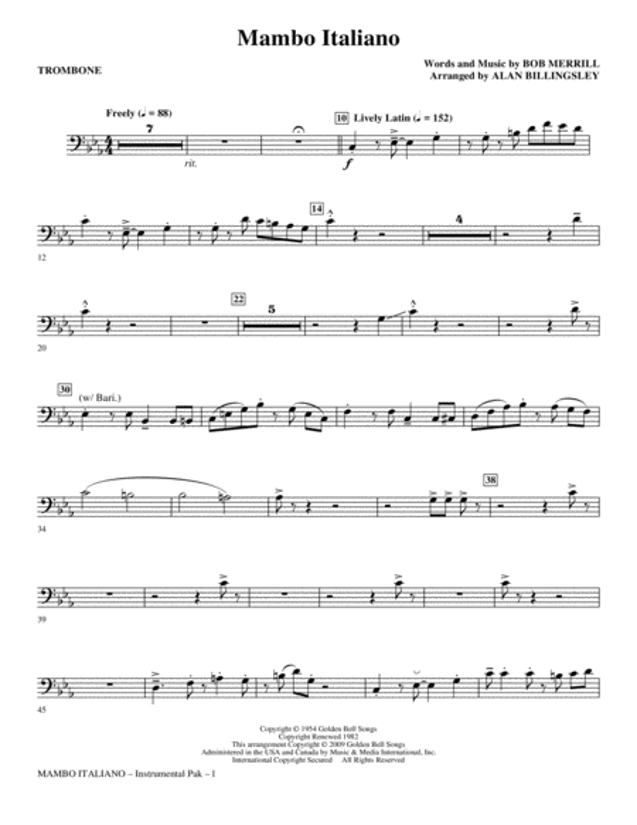 Mambo Italiano - Trombone