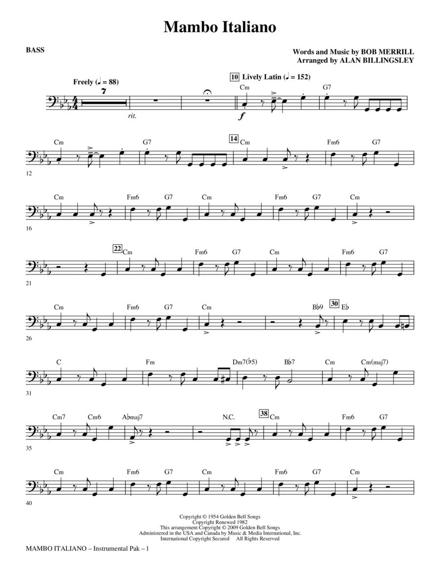 Mambo Italiano - Bass