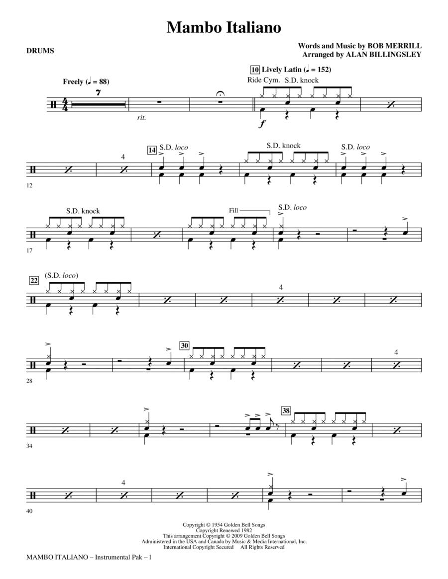 Mambo Italiano - Drums