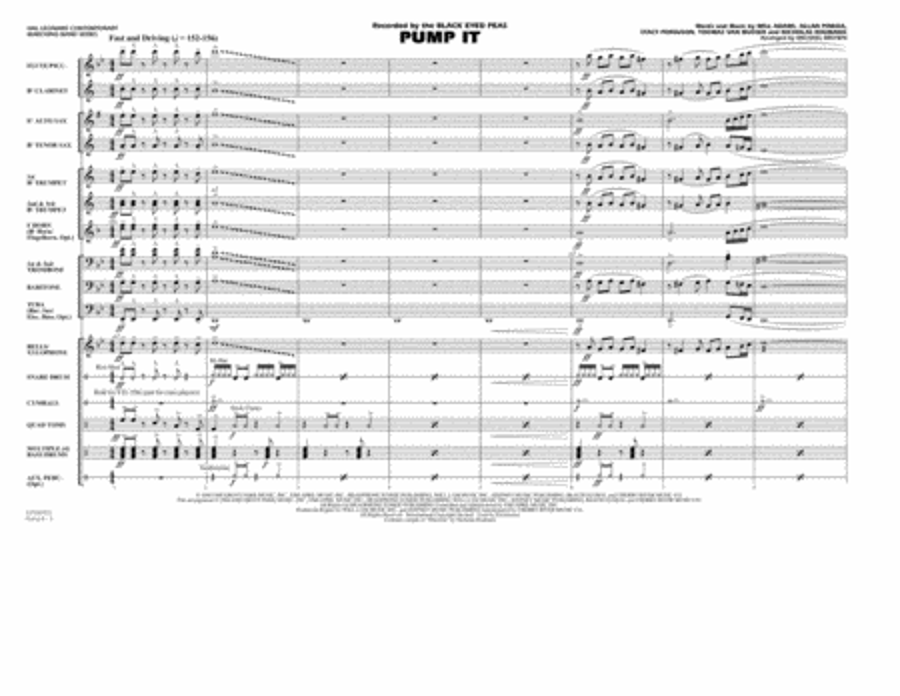 Pump It - Full Score